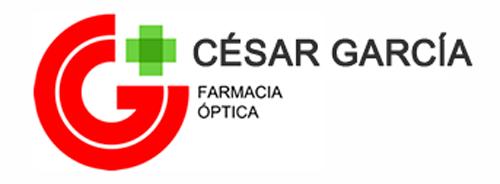logotipo blanco Farmacia Cesar García